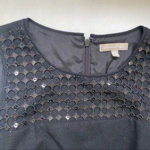 Banana Republic Dresses - Banana Republic Black Sequin A Line Black Dress 12
